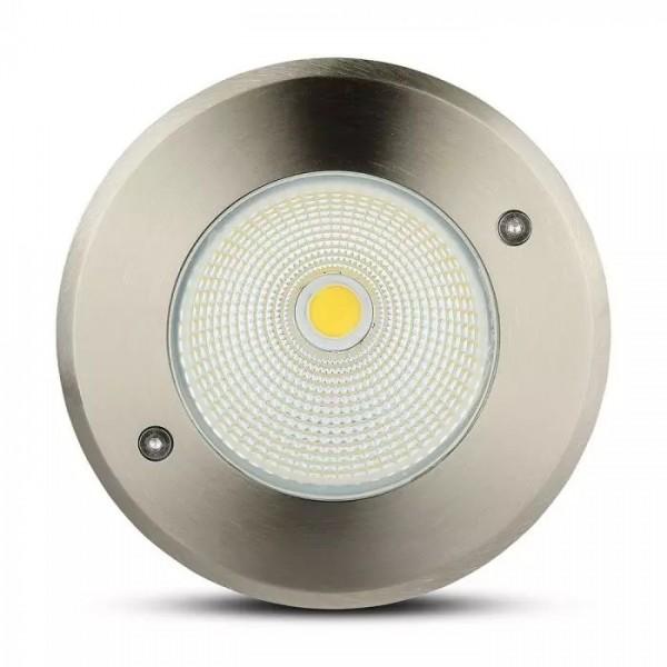 Spot LED etans 12W cu montaj ingropat in pardoseala alb neutru
