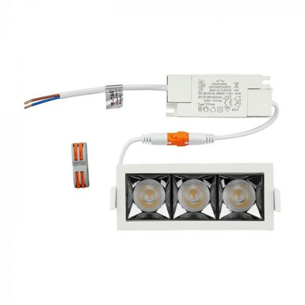 Spot LED 12W cu reflector antiorbire Cip SAMSUNG Alb Neutru