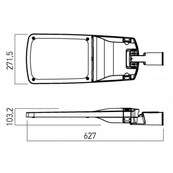 Corp de iluminat stradal LED 80-100W XLANE Alb Neutru