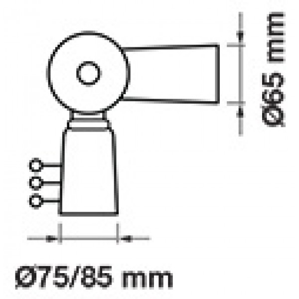 Adaptor pentru Lampi Stradale diametru 65