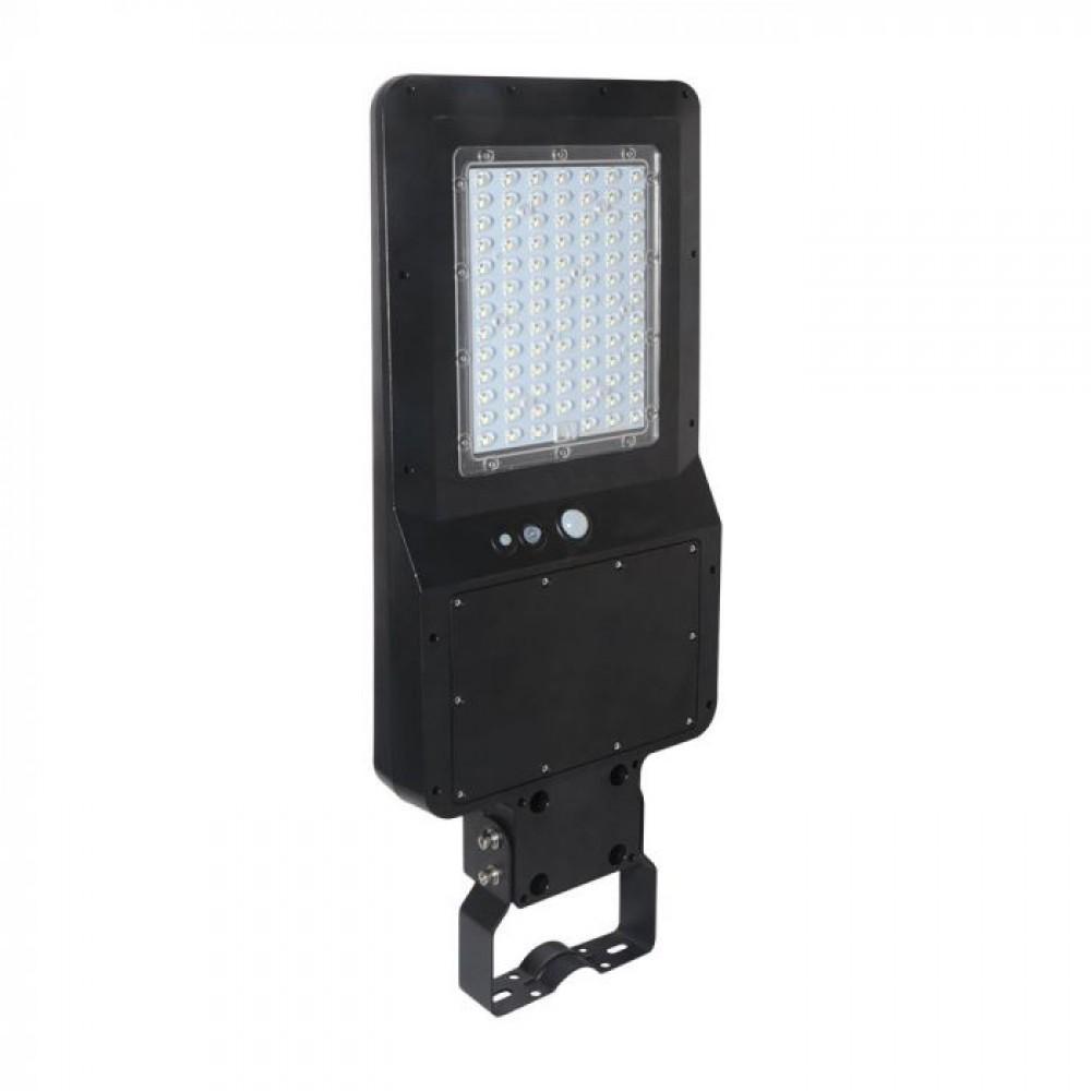 Lampa LED stradala solara 40W cu senzor si telecomanda Alb Neutru