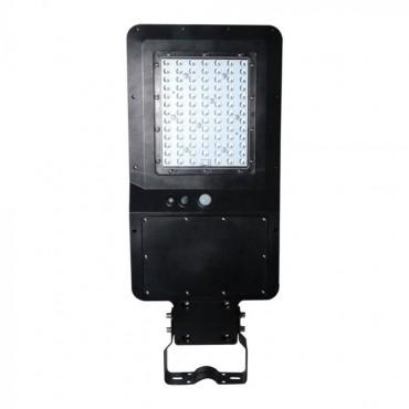 Lampa LED stradala solara 40W cu senzor si telecomanda Alb Rece