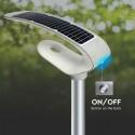 Lampa LED perimetrala solara 20W de gradina cu senzor si telecomanda RF