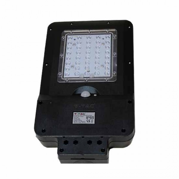 Lampa LED solara stradala 15W cu senzor Alb Rece