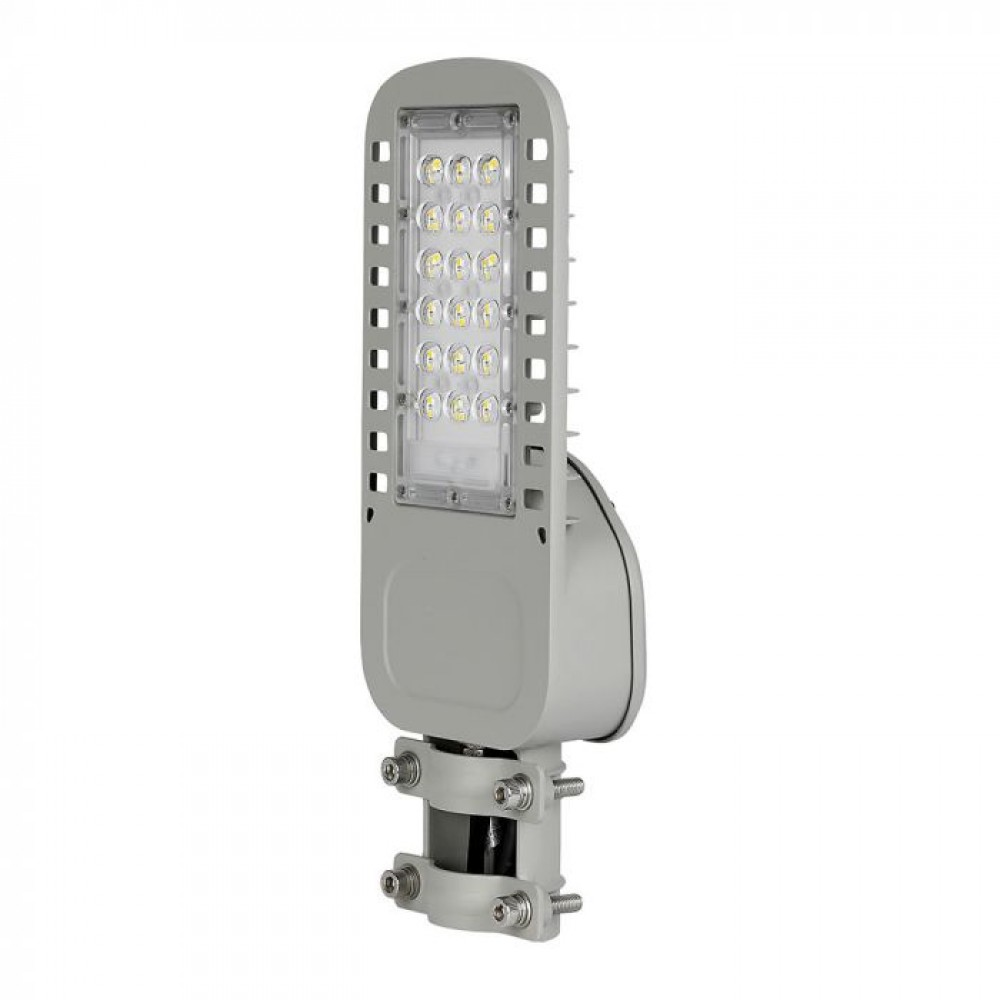 Lampa Stradala LED slim 30W 120lm/W Cip Samsung Corp Gri Alb Neutru