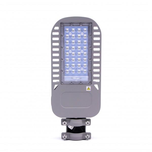 Lampa Stradala LED slim 50W 120lm/W Cip Samsung Corp Gri Alb Neutru