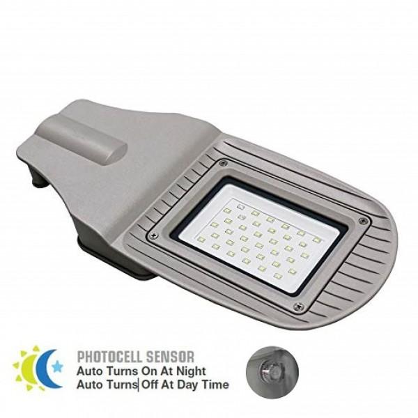 Corp Stradal LED 30W senzor fotocelula Corp Gri SMD Alb Rece